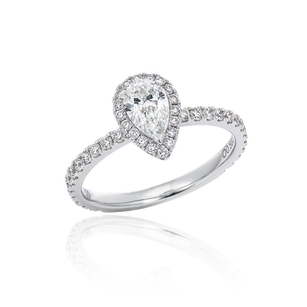 "Diamond Band With Micropave ""Pear Shape"""