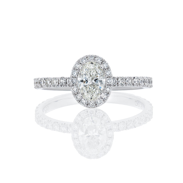 "Diamond Band With Micropave ""Oval Shape"""