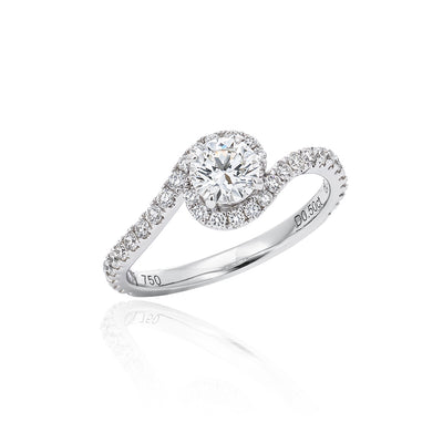 """Swirl"" All Diamond Ring"