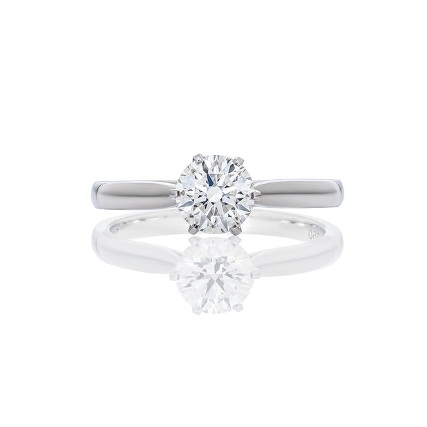 Classic Solitaire Six Prongs Diamond Ring