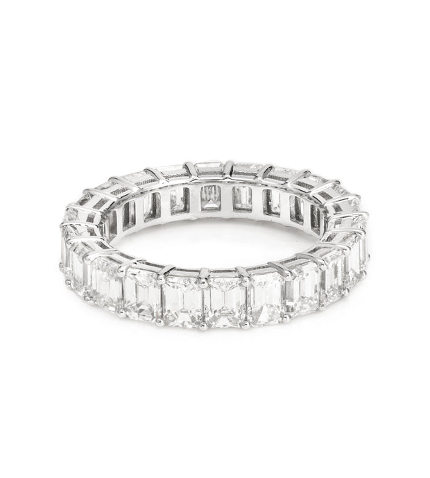 Emerald-Cut Eternity Diamond band