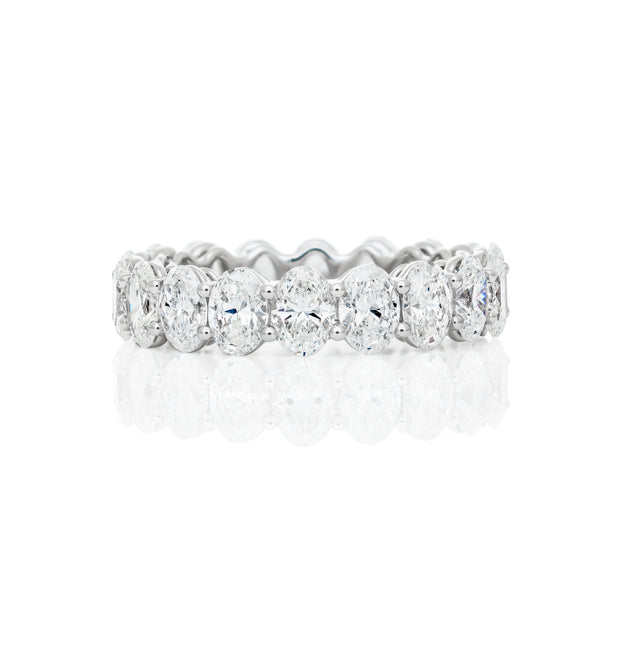 Oval-Shape Eternity Diamond band