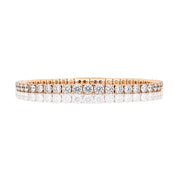 Round Brilliant One Line Diamond Bangle