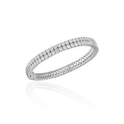 Round Brilliant Two Line Diamond Bangle