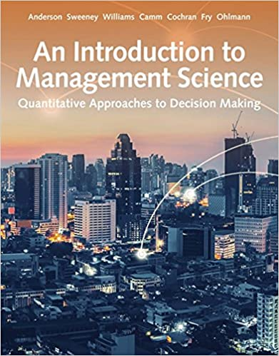 QMS521 - An Introduction to Management Science 15E