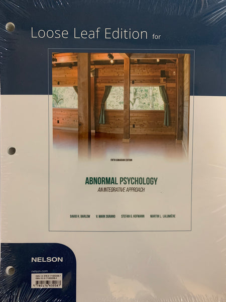 PSY325 - Barlow Abnormal Psychology 5E