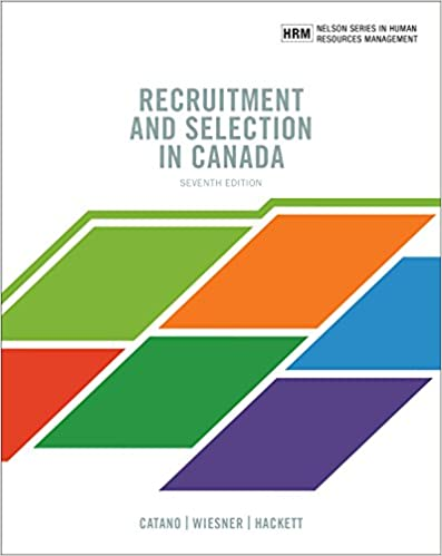 MHR623 - Catano Recruitement and Selection in Canada 7E