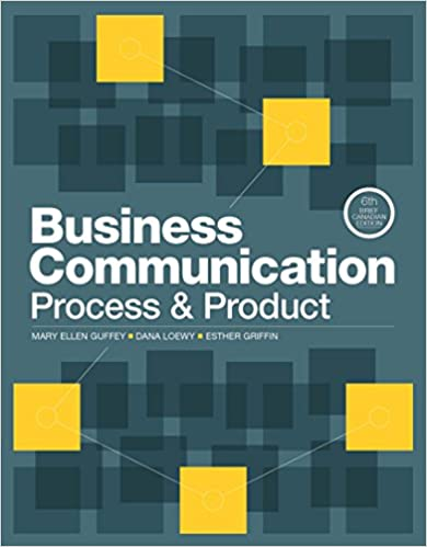 CMN114/313 - Guffey Business Communication 6E