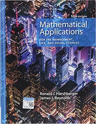 ITM107 - Harshbarger Mathematical Applications 12E (USED)
