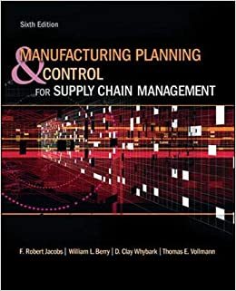GMS805 - Jacobs Manufacturing Planning & Control for Supply Chain Management 6E