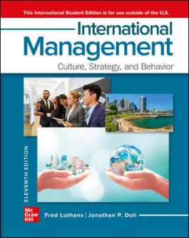 MHR700 - Luthans International Management ISE 11E