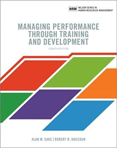 MHR733 - Saks Managing Performance through Training and Development 8E