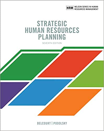MHR849 - Belcourt Strategic Human Resources Planning 7E