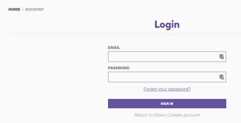 Fill in the login details as shown