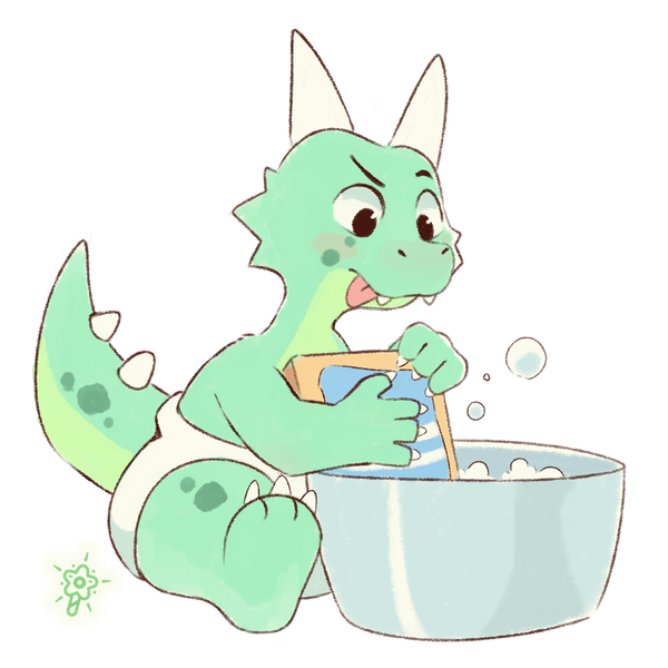 Even dragons wash their toys