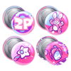 Gaming Party 2P Bandana Badges (Team Bunbun) - PretendAgain