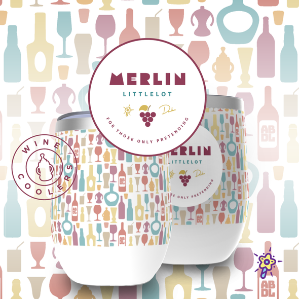 Laughy Café - Merlin Littlelot - Wine Chiller - PretendAgain