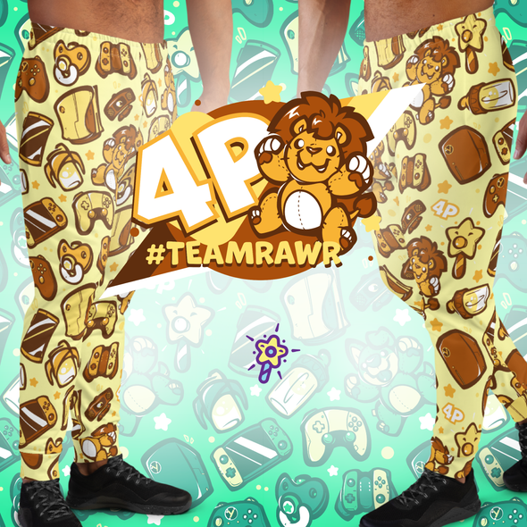 Gaming Party Pants 4P (Team Rawr) - PretendAgain
