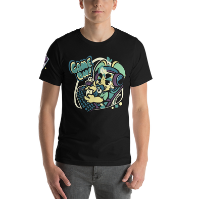 Game On Shirt (Dark Green/Purple) - PretendAgain