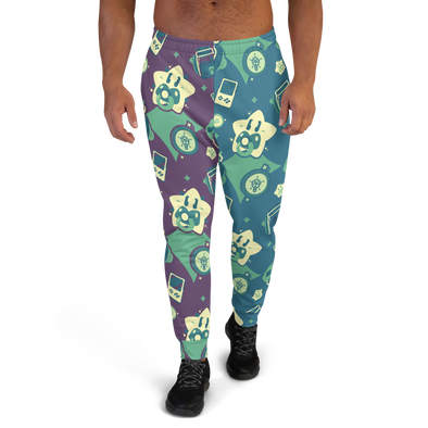 Gamer Pants (Dark Green/Purple) - PretendAgain