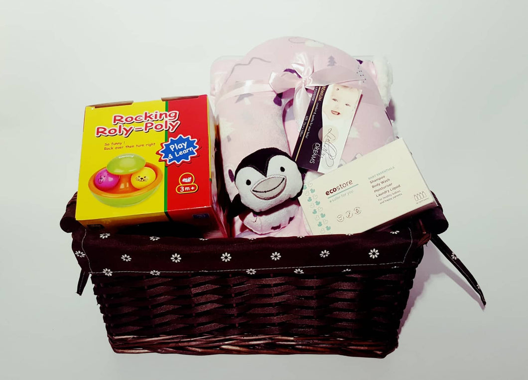 Baby Hamper Rocking Toy - Pink