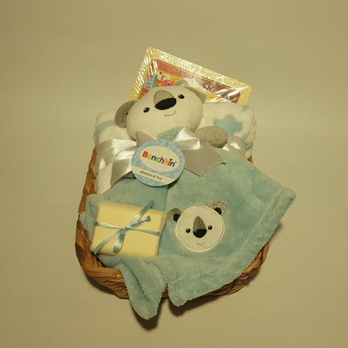 Baby Hamper Wooden Puzzle - Blue