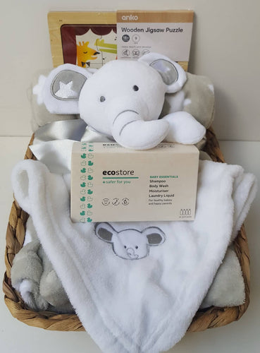 Baby Essentials Hamper - White
