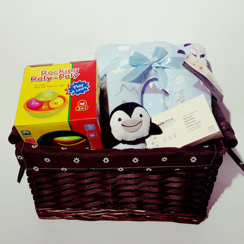 Baby Hamper Rocking Toy - Blue