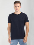 Foranje Men Cotton Crew Neck T-Shirt - Midnight Navy