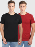 Foranje Men Cotton Crew Neck T-Shirt (Pack of 2)