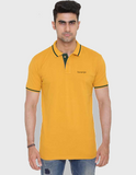 Foranje Men Cotton Polo T-Shirt - Yellow