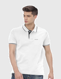 Foranje Men Cotton Polo T-Shirt - White