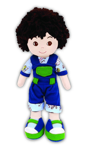 Cedric Animal Overalls boy doll - sale!