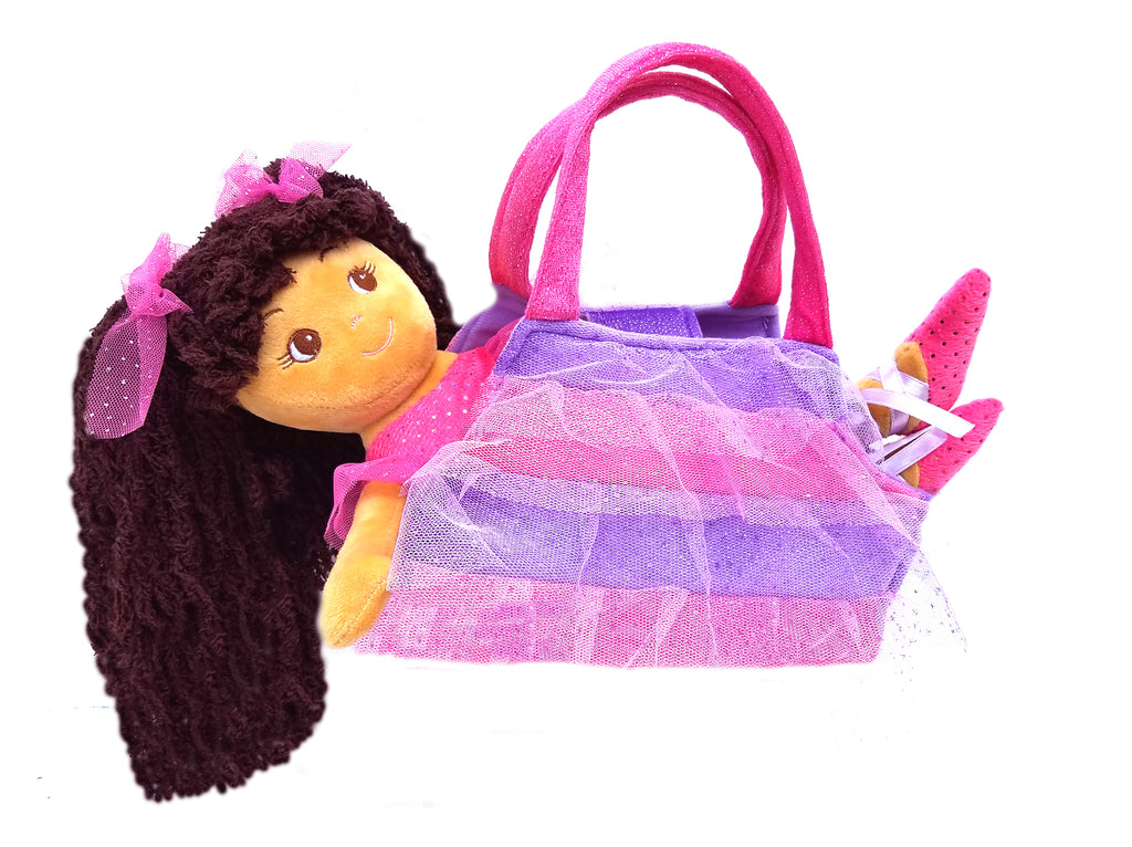 Elana Ballerina Doll with purse - Light brown skin
