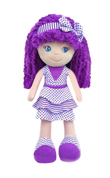Violet Dots & Stripes Baby Doll
