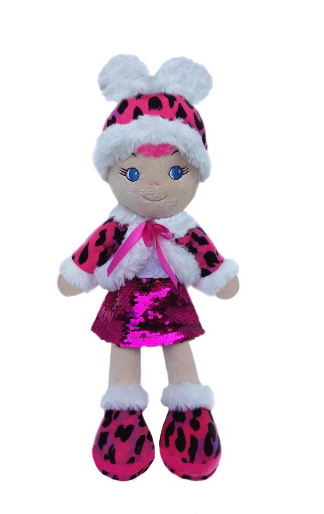 Leila Pink Leopard Baby Doll