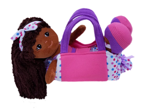Polka Dot Purse with Elana Ruffles Doll- sale!