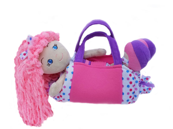 Polka Dot Purse with Leila Ruffles Doll- sale!