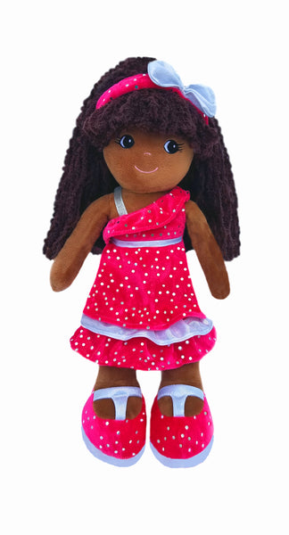 Emme Holiday Sparkle - Black Rag Doll