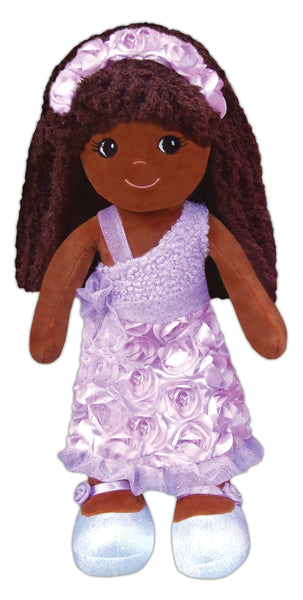 Emme Roses & Sparkles - Plush Black Doll