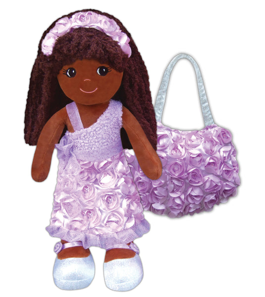 New! Emme Roses & Sparkles Doll & Purse set