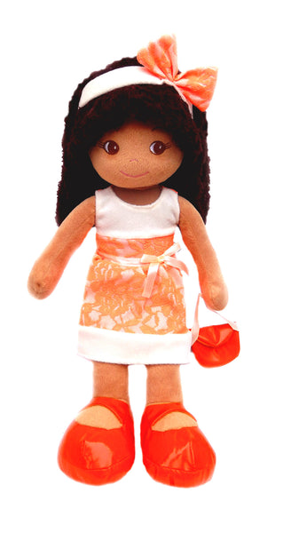 Emme Orange Lace Rag Doll- sale!