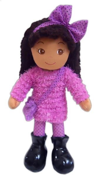 Emme Eclectic purple rag Doll- sale!