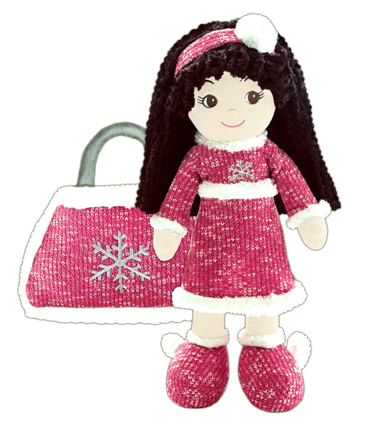Jessica Snowflake Toddler Doll & Purse Set