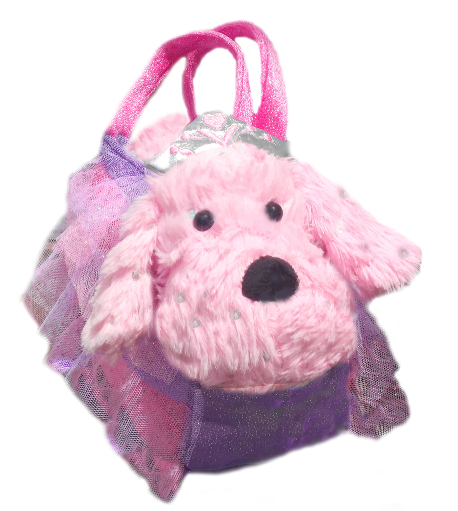 Jewels Plush Puppy with purse