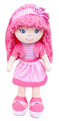 Leila Pink Dress up Plush Doll with bag