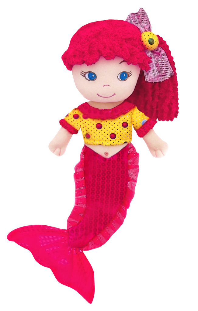 Leila Pink Mermaid Plush Doll- sale!