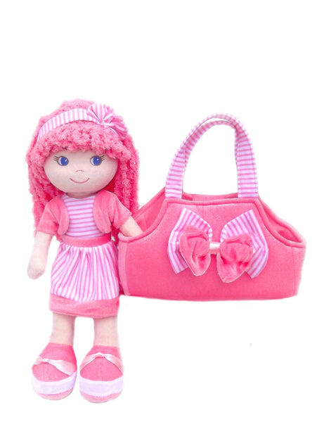 Leila Pink Dress up Doll with bag- sale!