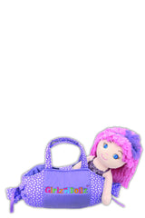 Purple candy bag with Ashlee Doll