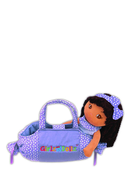 Purple candy bag with Elana Doll